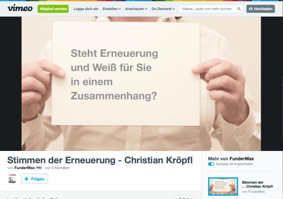 Christian Kroepfl Interview - Stimmen der Erneuerung